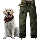 Jessie Kidden Men's Combat Camo Cargo Trousers Camouflage Army Military Tactical Work Pants