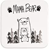 Gift for her | Mama Bear Coaster for cup mug glass | for Mum | for mothers day birthday or christmas from son or daughter | p