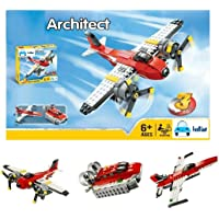 FunBlast 3111 Architect Series 3 in 1 – Fighter Jet, Boat & Airplane Building Brick Building Block for Kids…