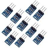 DollaTek 10Pcs AMS1117-5.5V Regulador de Voltaje de CC Módulo de Fuente de alimentación Bajada 4.75V-12V a 5V 800mA