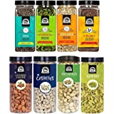 WONDERLAND FOODS (DEVICE) Dry Fruits Combo Almond 500G, Cashew 500G, Pistachio 500G, Raisins 500G, Pumpkin seeds200G, Chia Se