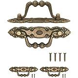 FUXXER® - 2 x antieke meubelgrepen inklapbaar, lade-handgrepen, keukenhandgrepen, ijzeren handgrepen, kisten, kasten, commode