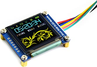 Waveshare 1.5inch RGB OLED Display Module 128x128 Pixels 16-Bit High Color SPI Interface with Embedded Controller