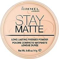 Rimmel London Stay Matte Pressed Powder, Mineral Formula for Long-lasting Shine Effect, 006 Warm Beige, 14 g