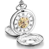 Infinite U, grande orologio meccanico da taschino con cassa di alta qualità a doppio coperchio, numeri romani, in…