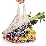 Große wiederverwendbare Einkaufstasche Aus Baumwolle Faltbare Waschbare Tasche mit Griffen