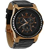 Christian Geen Analog Watch For Men - Leather, Black - 3595Glsr-Bk