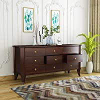 Urban Wood Bard Solid Sheesham Wood Chest of Drawers for Home, Office, Bedroom, Living Room Storage (Finish - Walnut)