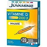 JUVAMINE - Immunité - Vitamine D 2000 UI 50ug - Défenses Immunitaires - Boite de 20 Ampoules