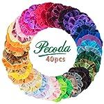 40 Pcs Hair Scrunchies Velvet Elastic Hair Bands Hair Ties Ropes Scrunchie for Women or Girls Hair Accessories - 40...