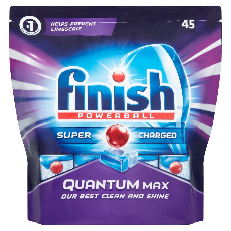 Finish Quantum Max Dishwasher Tablets, Original, 1 X 45 (45 Tablets):  Amazon.co.uk: Health U0026 Personal Care