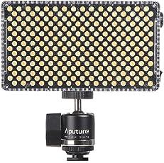 Aputure AL-F7 LED Portatile Lampada Video Pannello 3200K-9500K Temperatura di Colore CRI95 + 256pcs LED Beads Luminosità Regolabile con Supporto Scarpa Freddo Carry Bag