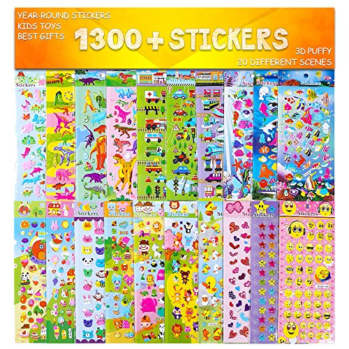 Stickers 1300 + and 20 Different...