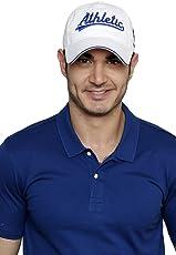 Sportigoo Cotton Athletic Cap (White and Royal Blue)