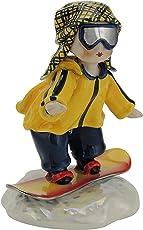 Zampiva Snowboard-Sportler aus hangefertigter Keramik