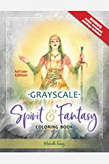 Spirit & Fantasy Coloring Book: Grayscale Full Color Edition Taschenbuch