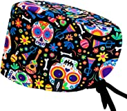 ROBIN HAT - Surgical Scrub Cap Catrina - Multicolored Surgical Cap for Long Hair - 100% cotton(Autoclavable)