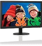 Philips 243V5LHAB 59,9 cm (23,6 Zoll) Monitor (VGA, DVI, HDMI, TN Panel, 1ms Reaktionszeit, 1920 x 1080, 60 Hz, mit Lautsprecher) schwarz
