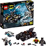 LEGO 76118 DC Mr. Freeze Batcycle Battle 2 in1 Bike Set, Batman and Robin Cycle Chase, Multicolour