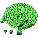 Rengzun 25-150 FT Multifunction Expanding Garden Water Hose Pipe with 7 Patterns Spray Gun Flexible Magic Hose Anti-leakage L