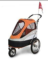 InnoPet® Sporty Trailer Pet Stroller Hundebuggy Hundewagen wandelbar Fahhradanhänger für Hunde Luftreifen inkl. Regenhaube - BITTE ACHTEN SIE AUF DIE INNENMAßE