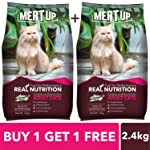 Meat Up Adult Cat Food, Ocean Fish - 1.2 kg Pack (Buy 1 GET 1 Free)