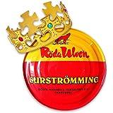 Surströmming Party-Set Röda Ulven 300g Dose (fermentierte Heringe) - 400g/300g Fisch | inkl. Challenge Vorlage | inkl. exklus