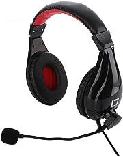 Live Tech Black Stereo Ergonomical Designed Headphones with Mic Headphone 24
