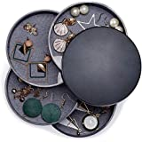 Scatole Portagioie Rotazione a 360 Gradi 4 Strati Forma Rotonda Portagioielli per Donne e Ragazze Anelli Orecchini Collane e