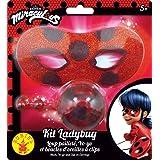 Rubies - Kit de accesorios oficiales de lupa con purpurina + Yoyo + pendientes Miraculous Ladybug-I-300295 para disfraz, niño