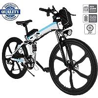 """Hiriyt Vélo Electrique 26"""" E-Bike - VTT Pliant 36V 250W Batterie au Lithium de Grande Capacité - Ville léger Vélo de avec moyeu 21 Vitesses"""