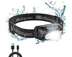 Cocoda Lampe Frontale LED Rechargeable, Torche Frontale Puissante Étanche with 5 Modes d'Éclairage, 200 LM, Ultra-Léger & Rég