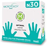 Ansell Micro Touch N30 Nitrile Multipurpose Gloves, Food Grade Approved, Oral Approved, Free From Latex Smell with No…