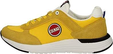 Colmar Scarpa Sneakers Uomo Travis x-1bold Original Rosso/Bianco in Pelle e Tessuto