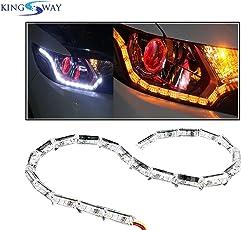 Kingsway kkmcrydrl00001 DRL LED Light for All Cars (Pack of 2)