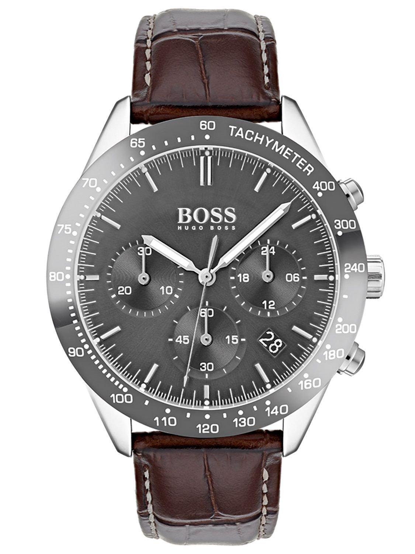 Hugo BOSS Reloj Cronógrafo para Hombre de Cuarzo con Correa en Cuero 1513598