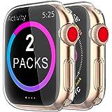 2 Pack Funda Apple Watch 40mm Series 6/5/4/SE, Protector Pantalla iWatch Case Protección Completo Anti-Rasguños Ultra Transpa