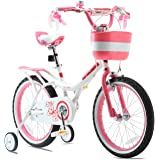 RoyalBaby Girls Kids Bike Jenny 12 14 16 18 20 Inch Bicycle for 3-12 Years Old Child's Cycle With Basket Training Wheels Or K