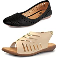 Thari Choice Girls Combo of Footwear (Pack of 2)