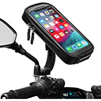 ENONEO Support Telephone Moto étanche Rotation à 360° Support Smartphone Moto Scooter avec Habillage Pluie Porte…