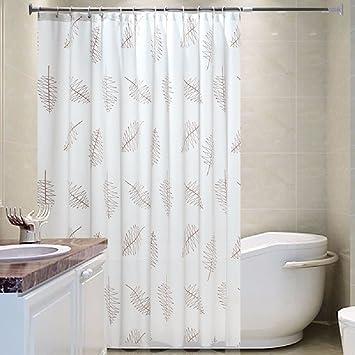 WAWZJ Shower Curtain Bathroom Thick Waterproof Mildew Proof Shower Curtain,W200  * H200