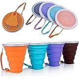 DeHub Copas de Silicona Plegables, Taza de Viaje Plegable de Silicona,FDA y BPA Gratis Capacidad más Grande 270ML Tazas de Be