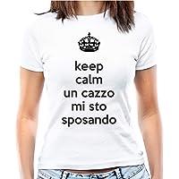 Hero Tee T-Shirt Addio al Nubilato Keep Calm Un c… Mi STO sposando - Maglia Donna