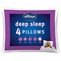 Silentnight Deep Sleep Pillow Pack of 4 - Soft Hotel Bed Pillows 4 Pack - Machine Washable Hollowfibre Sleep Easy…