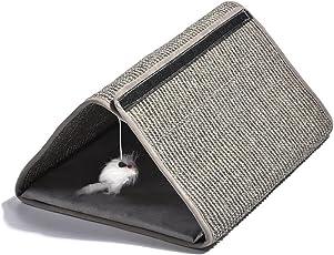 Arvin87Lyly Katze Kratzbrett Kratzlounge Sisal Kratzteppich Schleifklaue Matte Katzentunnel, Schützen Möbel Sofa Und Katze Krallenpflege, Mit Kleine Mausspielzeug