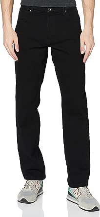 Wrangler Men's Authentic Straight Jeans, Black (Rinse 107), 34W / 30L