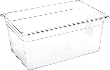 lipavi Sous Vide Behälter Modell C5–1,75Gallonen, 32,3x 17,8cm, Höhe 20,3cm. Starke, klare Polycarbonat. Passende Deckel für anova, Joule und mehr. Passende Sous Vide Rack lipavi Modell L5