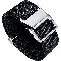 Cinturino per orologio in nylon elastico Binlun NATO di ricambio impermeabile con cinturino a strappo 18/20/22mm
