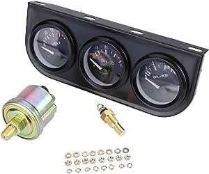 Allright 52mm Auto Thermograph Temperatur Öldruck Voltmeter Messgerät Zusatz Instrument Auto
