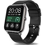 Popglory Smartwatch, fitnesstracker met bloeddrukmeting, fitnesshorloge met hartslagmeter, slaapmonitor, IP67 waterdicht, spo